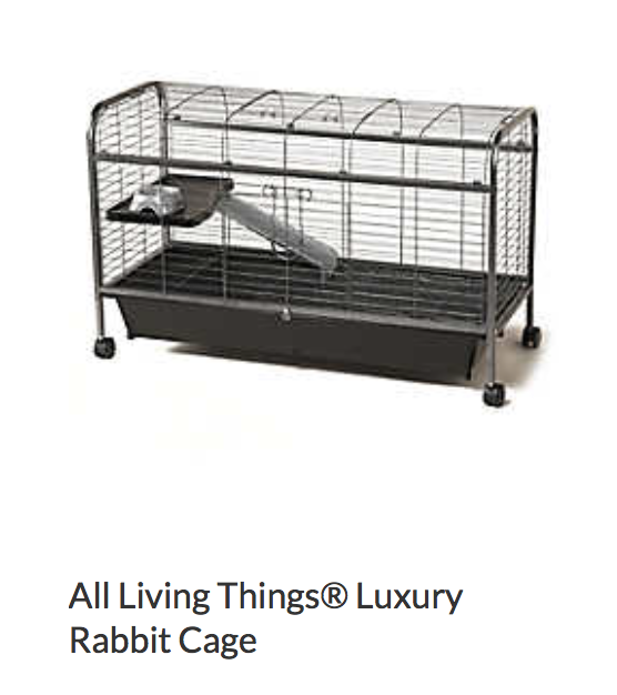 All Living Things Luxury Rabbit Cage - Not appropriate size wise for rats. Fine as a carrier, bar spacing may be too big for babies.