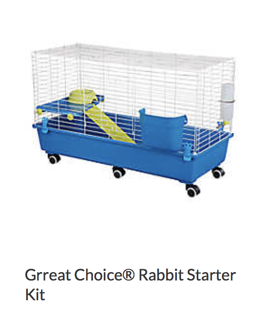 Grreat Choice Rabbit Starter Kit - Not appropriate size wise for rats. Appropriate as a carrier.