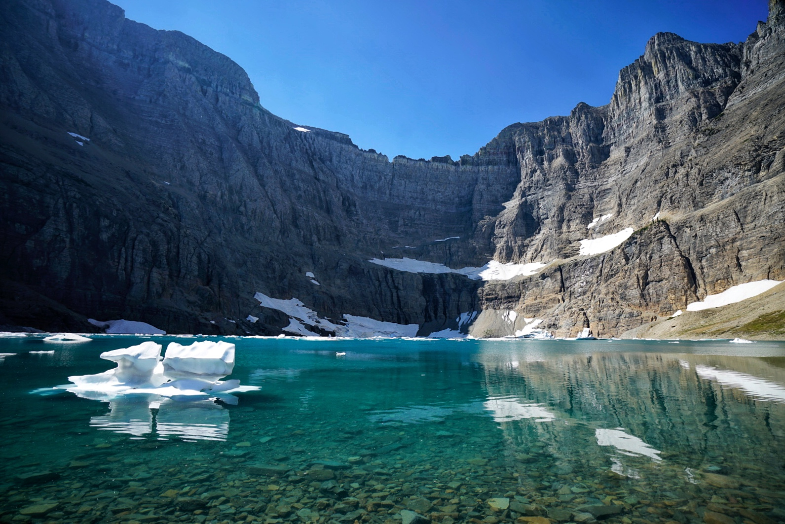 Iceberg Lake lives up to its name. It was 39 degrees F when I jumped in.