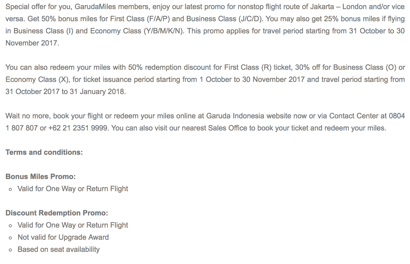 Garuda Indonesia has launched promotion that allows you to book award flights at up to 50% off.