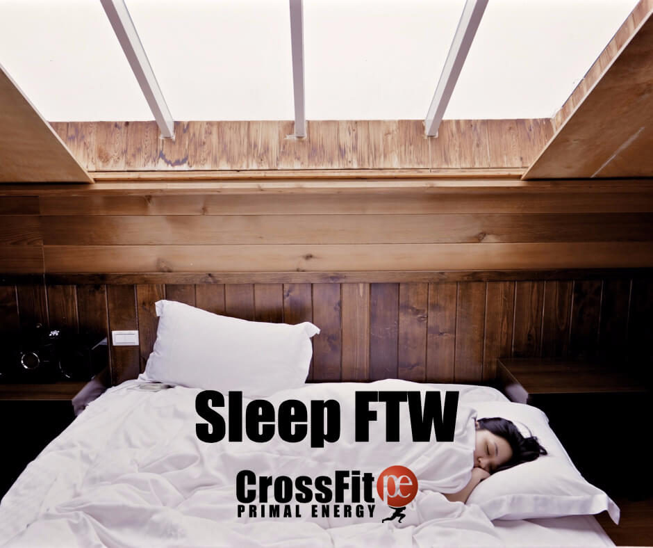 Getting enough sleep allows men and women to side step injuries like ankle sprains and stress tears. Again, it's about recovery, whether you're playing baseball or finishing a WOD.