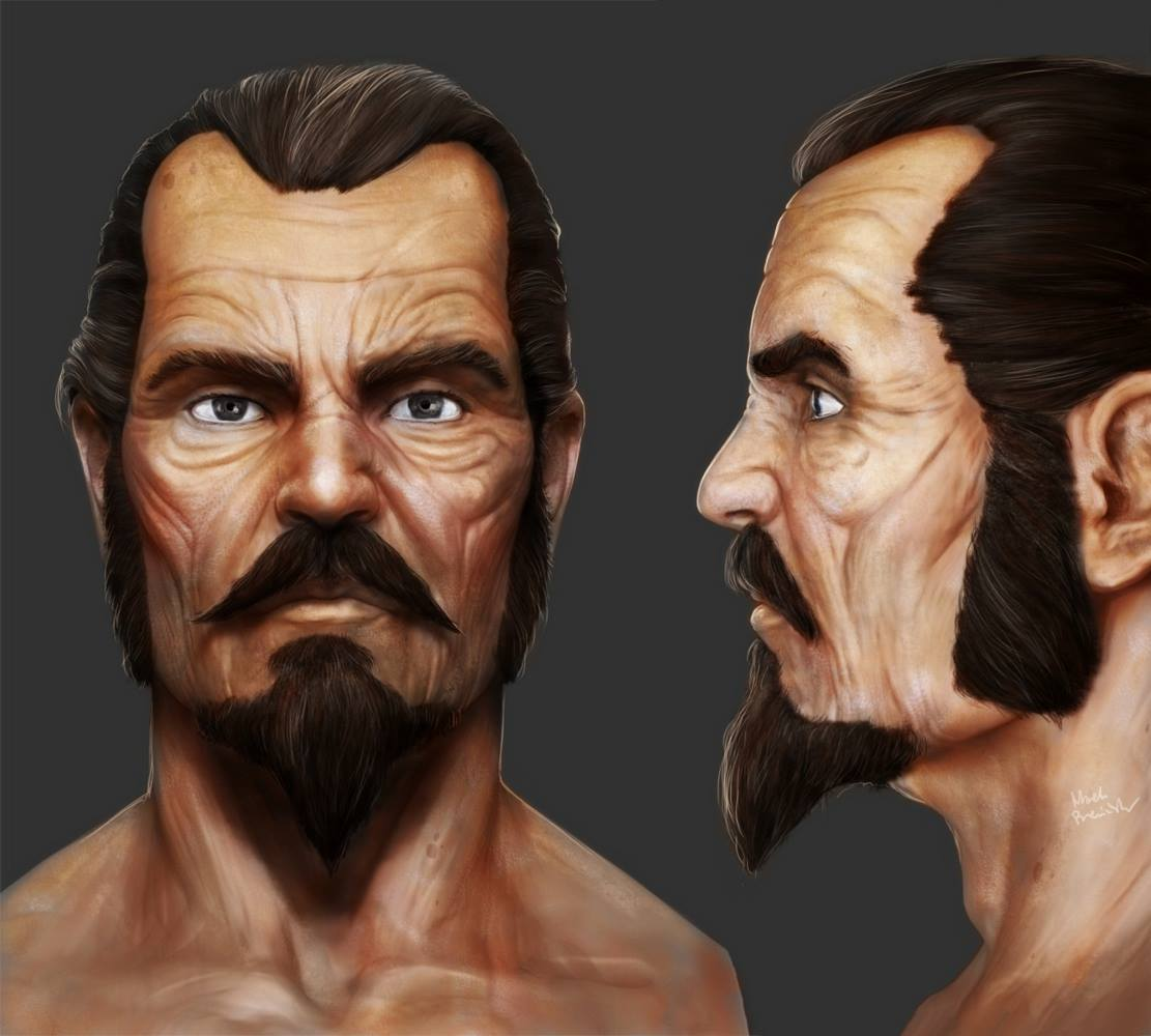 Matthew Moreau - Early 60's, caucasian male, worn features, thinning hair, thick mustache, goatee.Wanted for treason.You cannot interact with Moreau. His eyes, however, are always fixed on you.