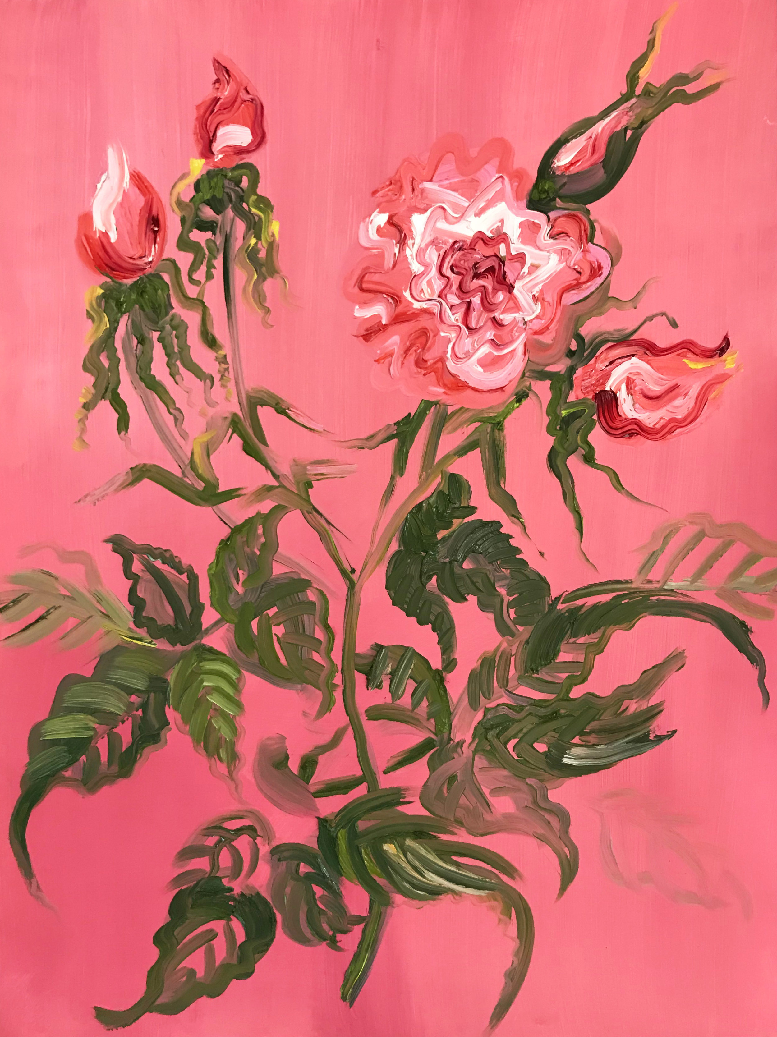 Pink Roses, after Redouté 2