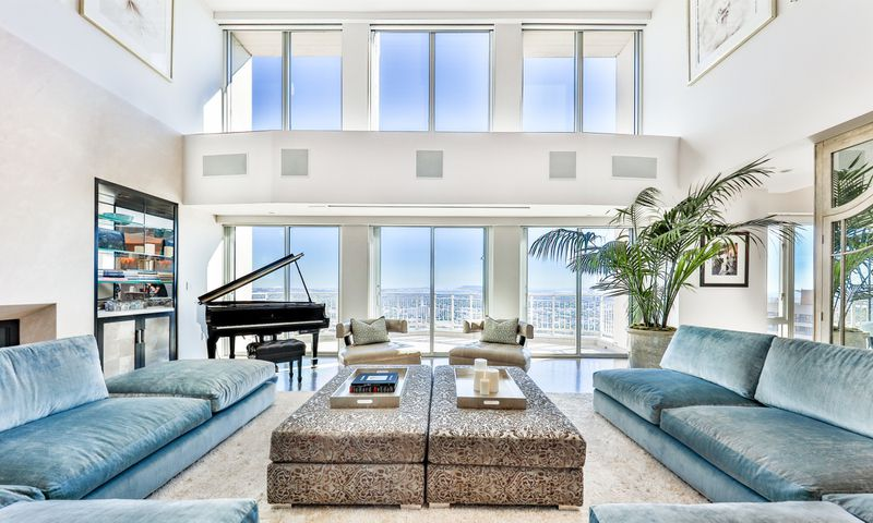 The two-story unit takes in city and ocean views from a 6,000-square-foot interior and 1,800-square-foot terrace. (Michael McNamera | Joe Bryant)