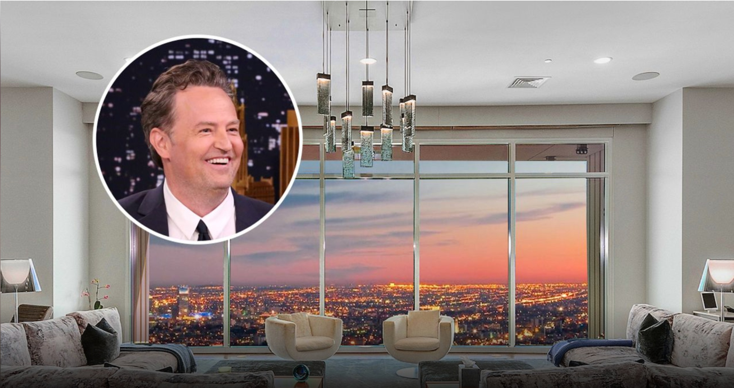 Matthew Perry is selling an apartment his owned in Los Angeles for two years.  MICHAEL MACNAMARA AND JASON SPETH