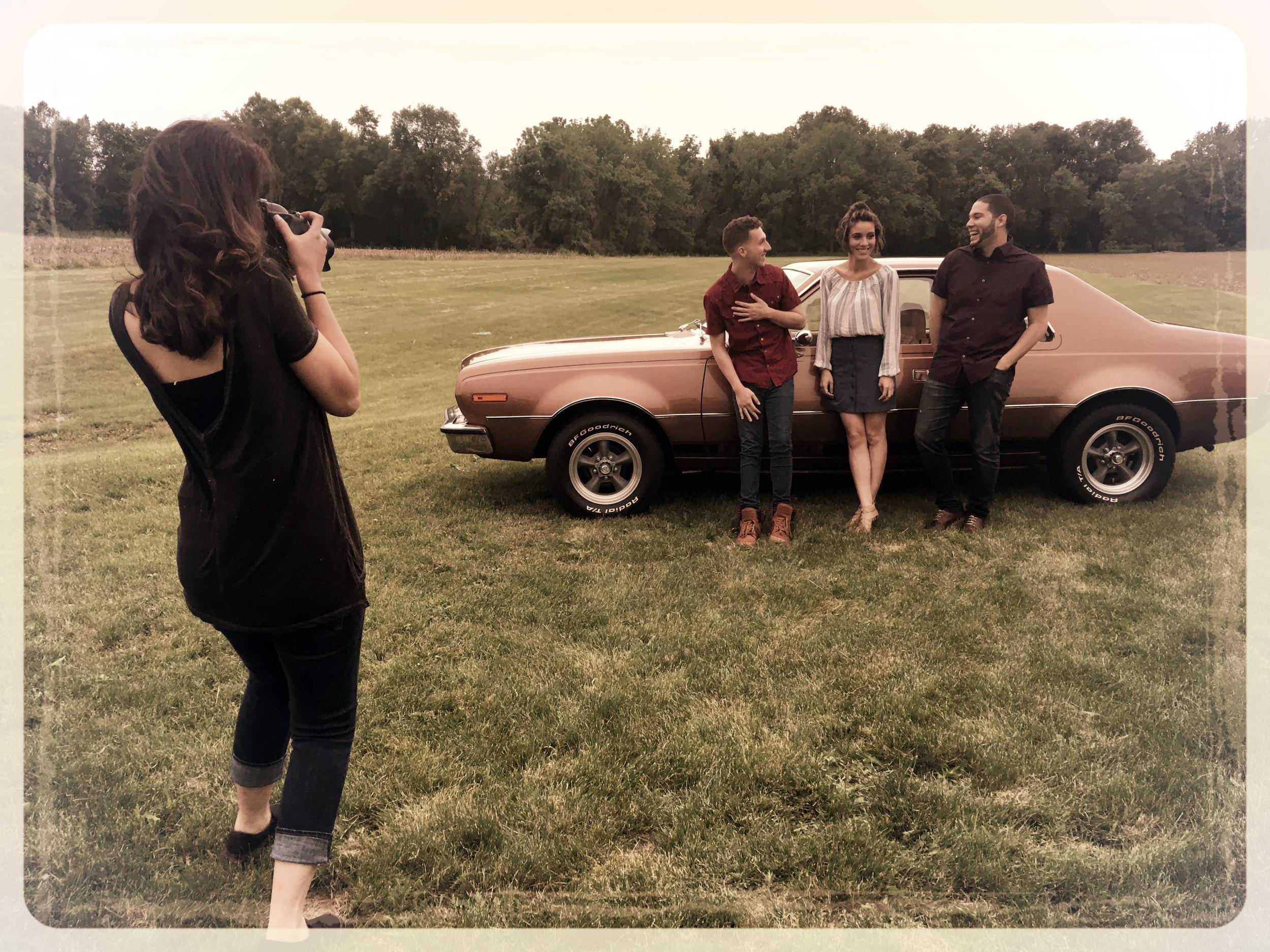 Kristen capturing the album cover shot!