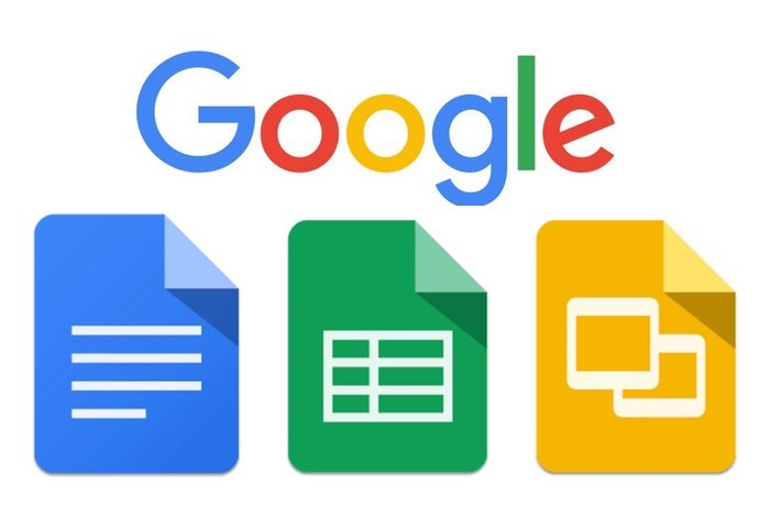 Google Docs  , Google Sheets, and Google Slides are a word processor, a spreadsheet and a presentation program respectively, all part of a free, web-based software office suite offered by Google within its Google Drive service. The three apps are available as web applications, and as mobile apps for Android and iOS. The apps are compatible with Microsoft Office file formats. The suite also consists of Google Forms (survey software), Google Drawings (diagramming software) and Google Fusion Tables (database manager; experimental).  The suite allows users to create and edit files online while collaborating with other users in real-time.