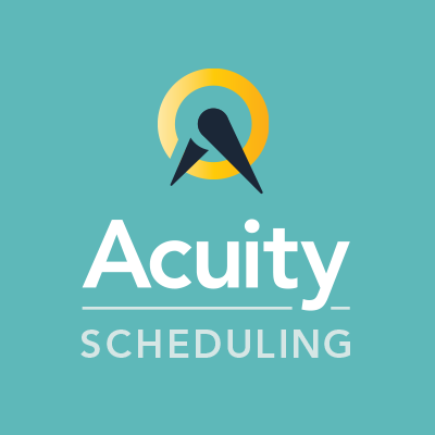 Acuity Scheduling   is your online assistant,working 24/7 to fill your schedule.  Clients can quickly view your real-time availability and self-book their own appointments—and even pay online, reschedule with a click, and eliminate 100% of the drudgery.