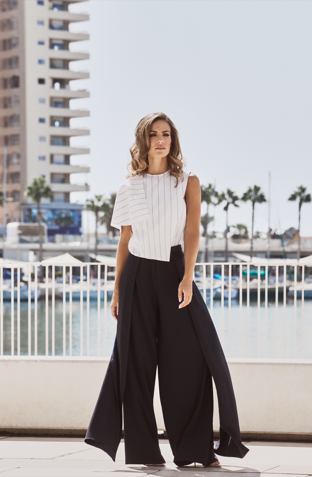 Shell Asymmetric Top - Cruise Pants