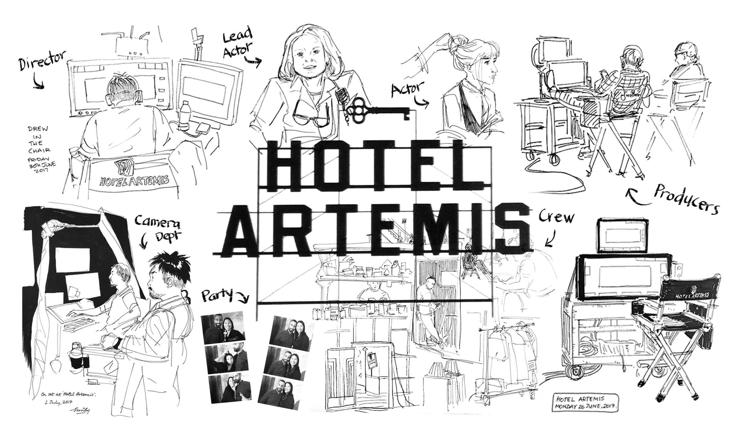 Hotel Artemis Sketchbook by Emily Dean