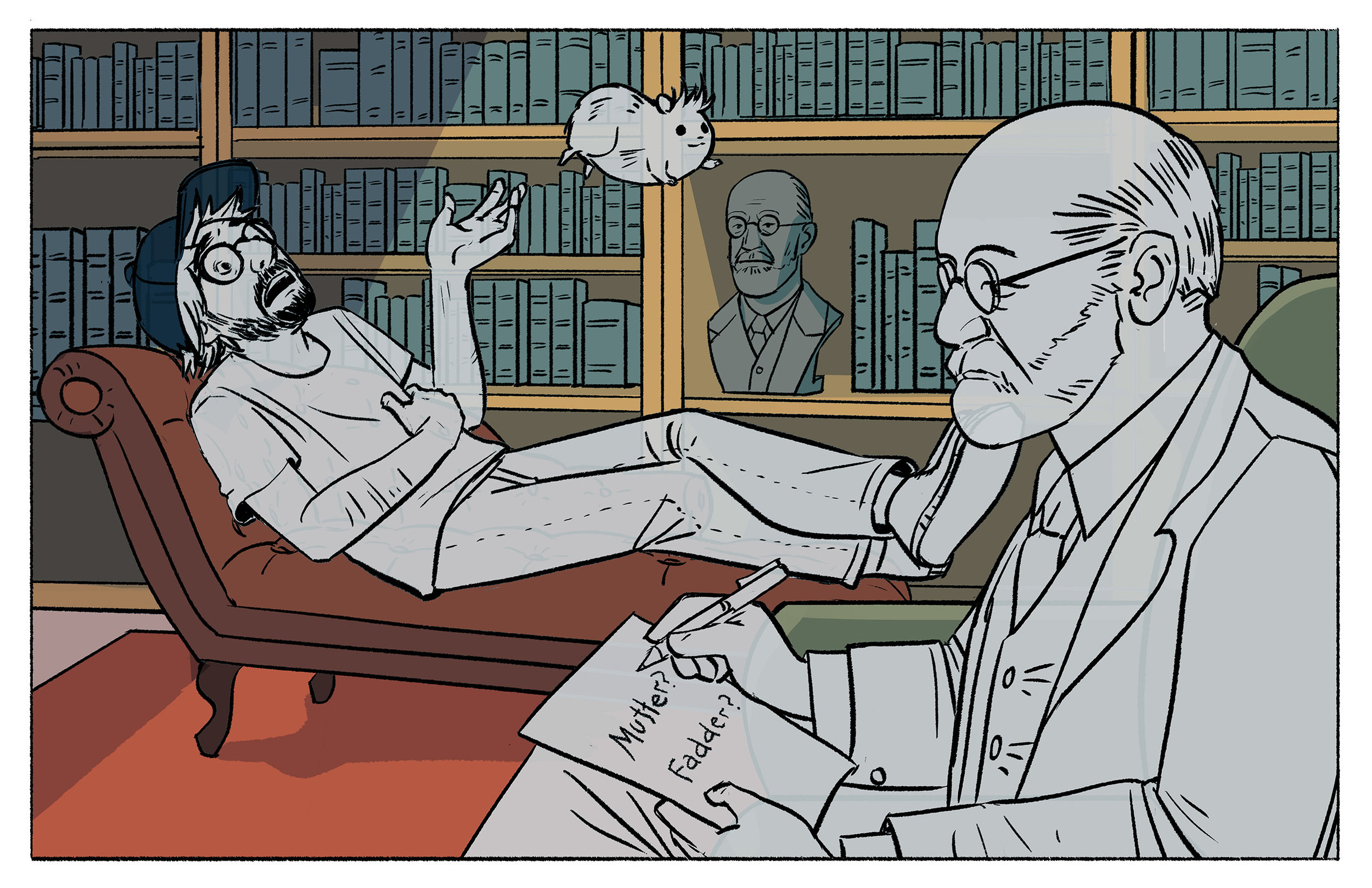 Ghost Fogel, Mister Chips, and Ghost Freud. Additional color work by  Portlynn Tagavi .