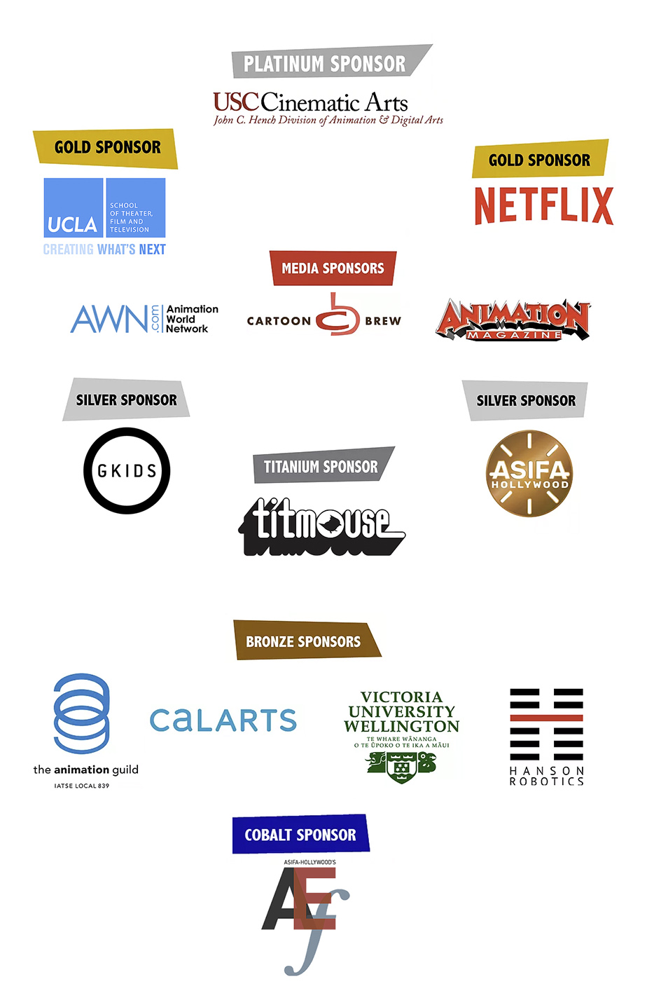 Sponsors of BTGF (source: https://www.breakingtheglassframe.com/sponsor)