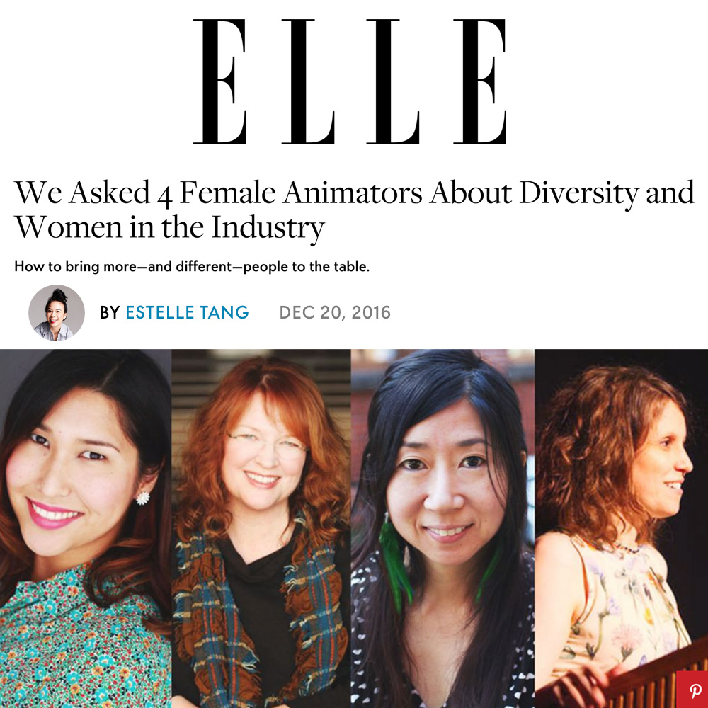 We Asked 4 Female Animators About Diversity and Women in the Industry: - How to bring more—and different—people to the table.By ESTELLE TANGDec 20, 2016.