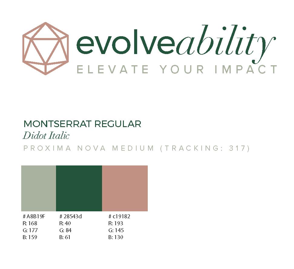 Logo, Style Guide & Website Design - evolveability.co