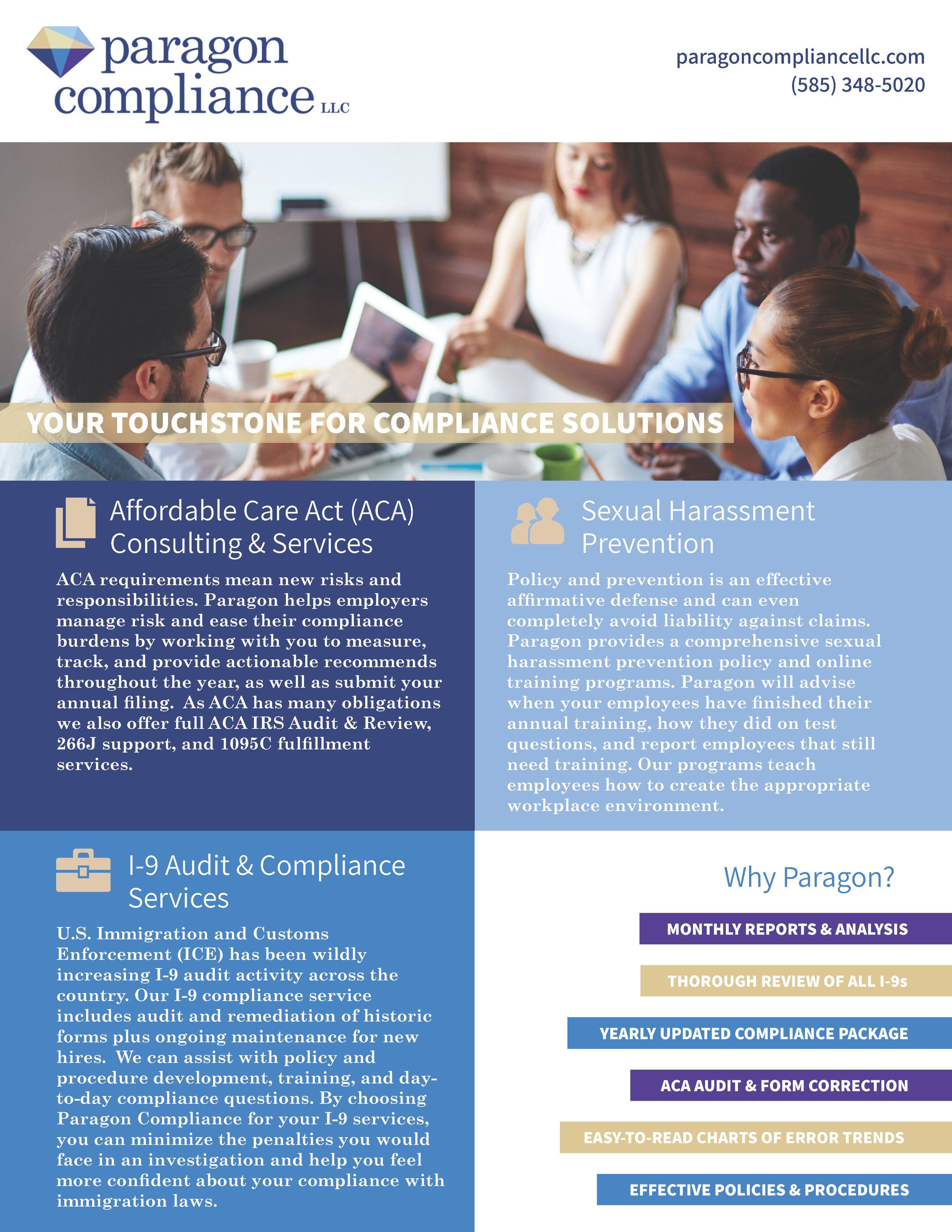 Paragon Compliance LLC: Company Flyers -