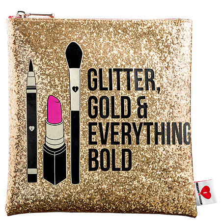 Sephora Collection Glitter, Gold, & Everything Bold Clutch ($18)