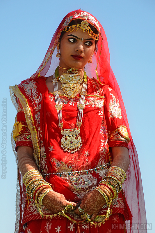 Indian girl in Jaisalmer, Rajastan, India.