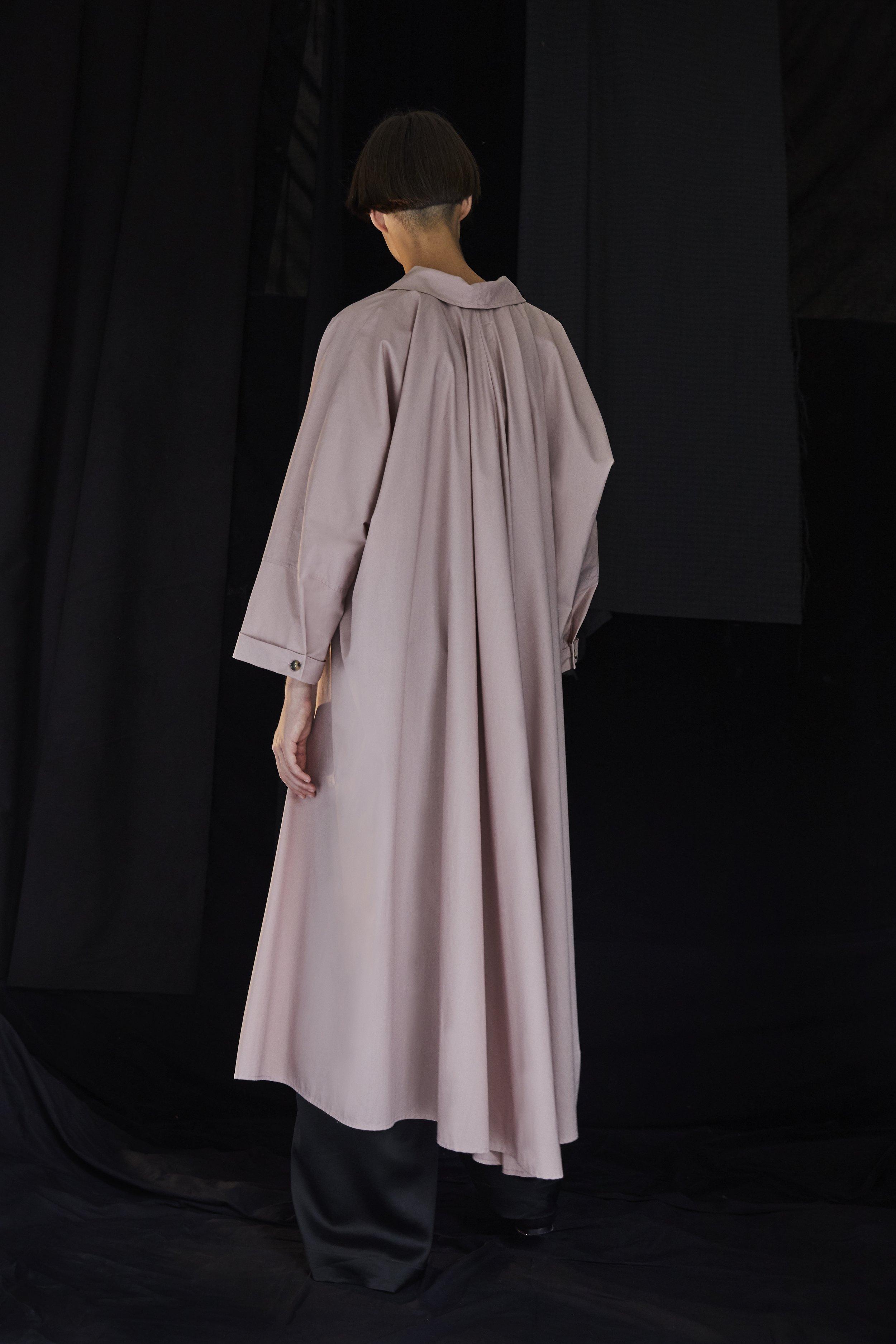 PENN   cotton wrap dress in BLUSH