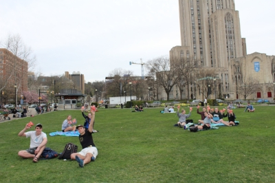 Some of our first taste testers were University of Pittsburgh students taking a break at Schenley Plaza.