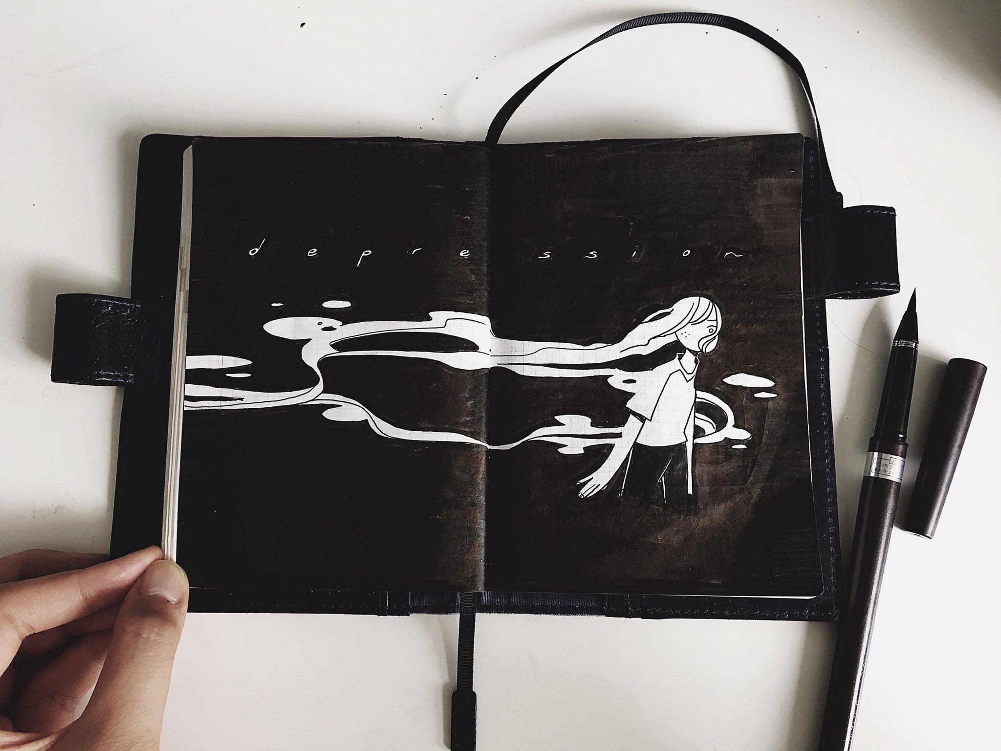 Marker, notebook paper