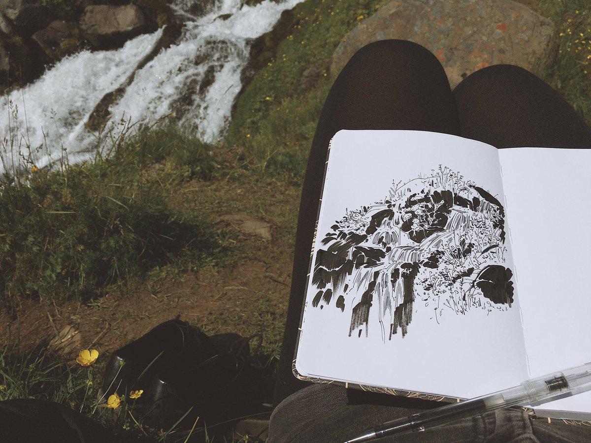 Pen on sketchbook paper