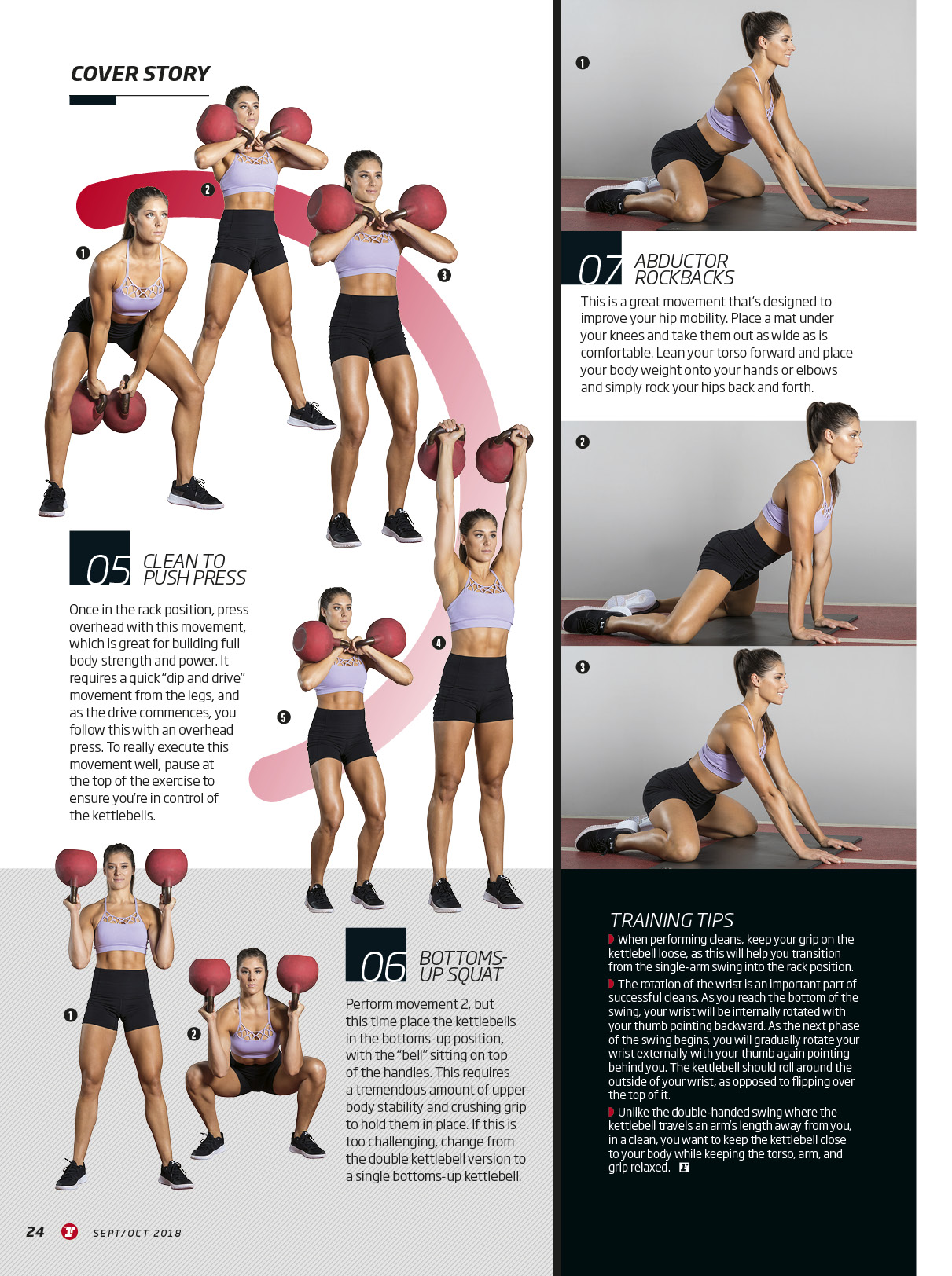 Feature | Alice Jane X Fitness First Magazine - Creating and demonstrating magazine workouts for Fitness First Australia