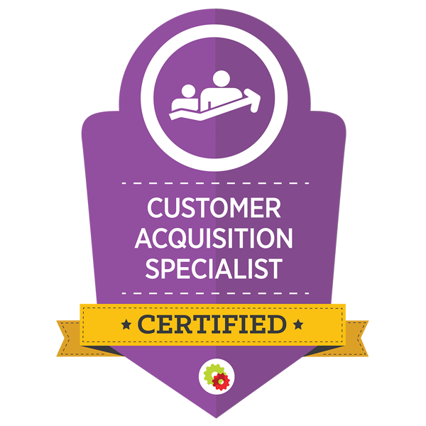 digitalMarketer Certified CUSTOMER ACQUISITION SPECIALISt