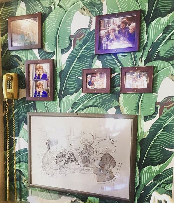 Blanche's infamous banana green leaf wall paper that decorated her bedroom on the show.