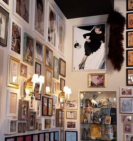 Tons of wall memorabilia taking you down memory lane of Rue's life including some of her most prized keepsakes.