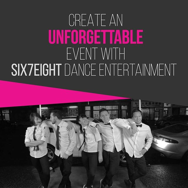 We want to help you provide spectacular dance entertainment for your guests. Customized to your preferences, our Six7Eight dancers and choreographers will deliver a performance you won't forget. #choreography #vancouver #dance #six7eight #event #wedding #performance #professional #dancer #firstdance #party #entertainment #custom #flashmob #surprise