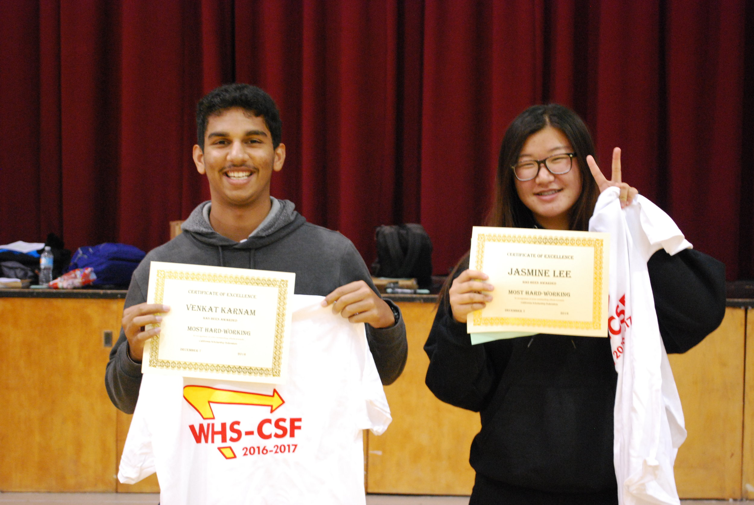 Congrats to our members of the month: Venkat Karnam and Jasmine Lee!