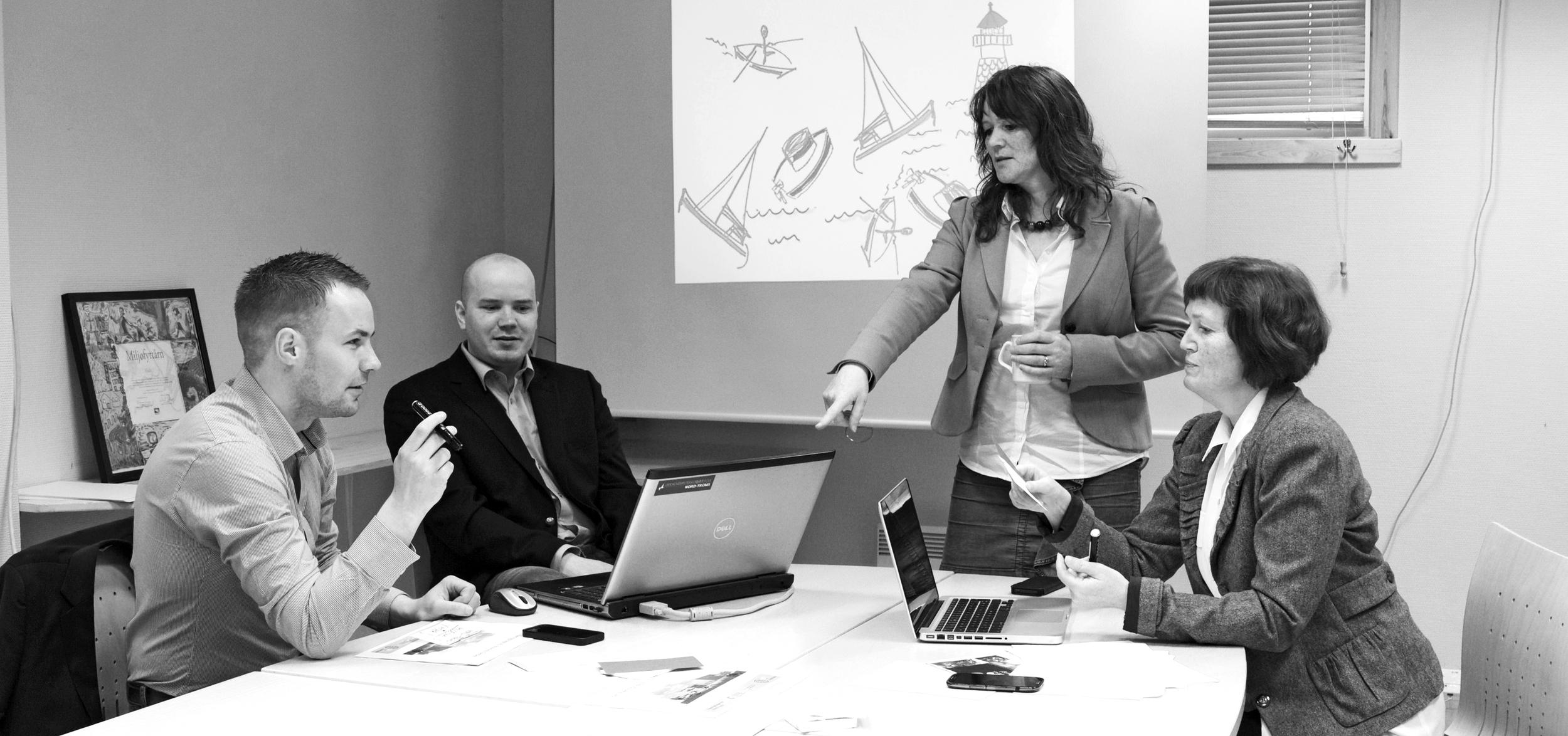 Strategiprosess i samarbeid med Halti næringshage AS. Foto: Eili Bråstad Johannessen