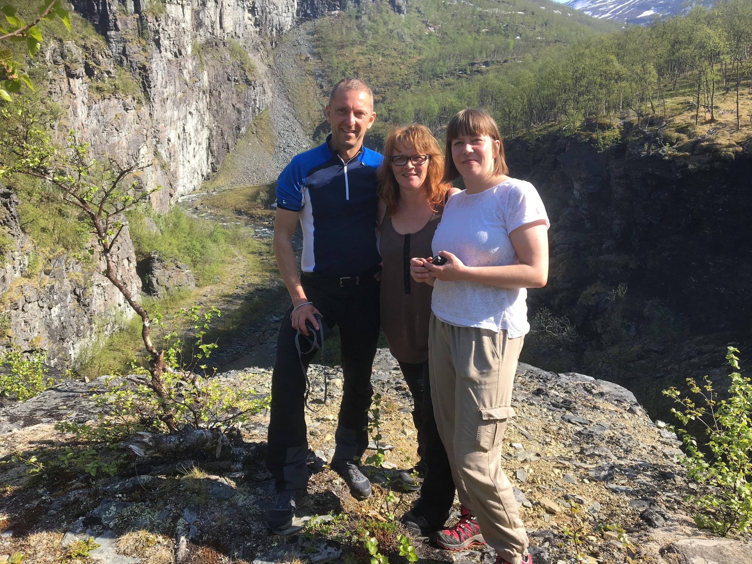 Fra et av våre besøk i Ankerlia - research, planlegging og ikke minst trivelige turer. Foto: Rolf Bakkeslett