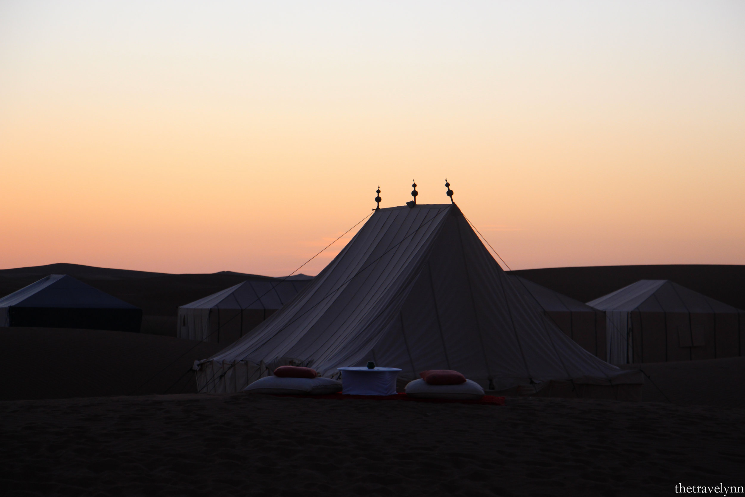 Sahara Camp sunset