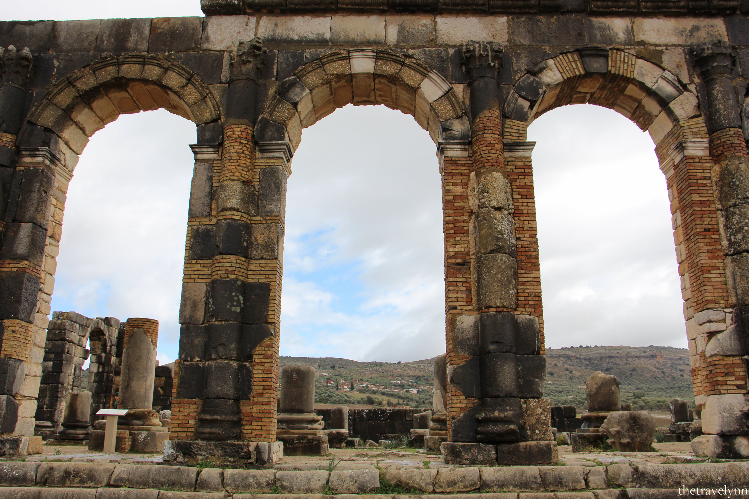 roman columns volubilis