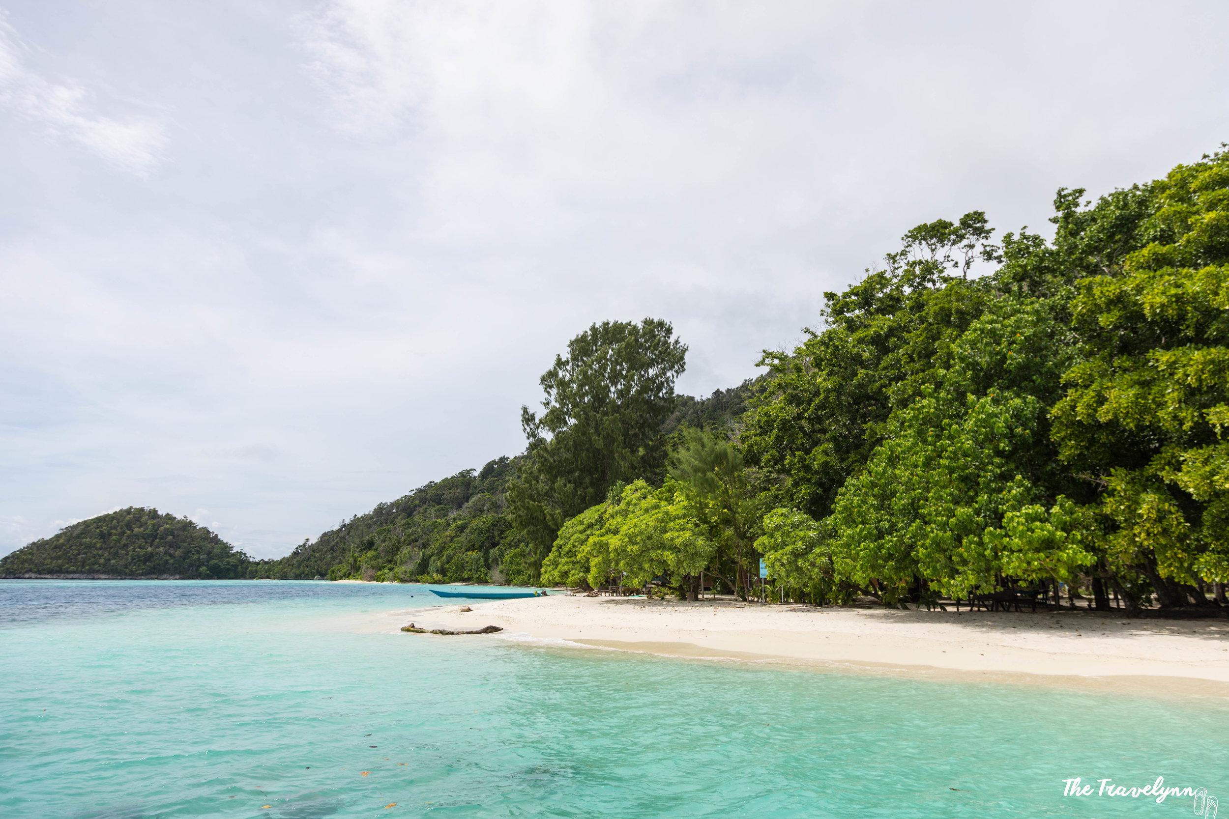 Pristine white sand beaches are a common occurance.