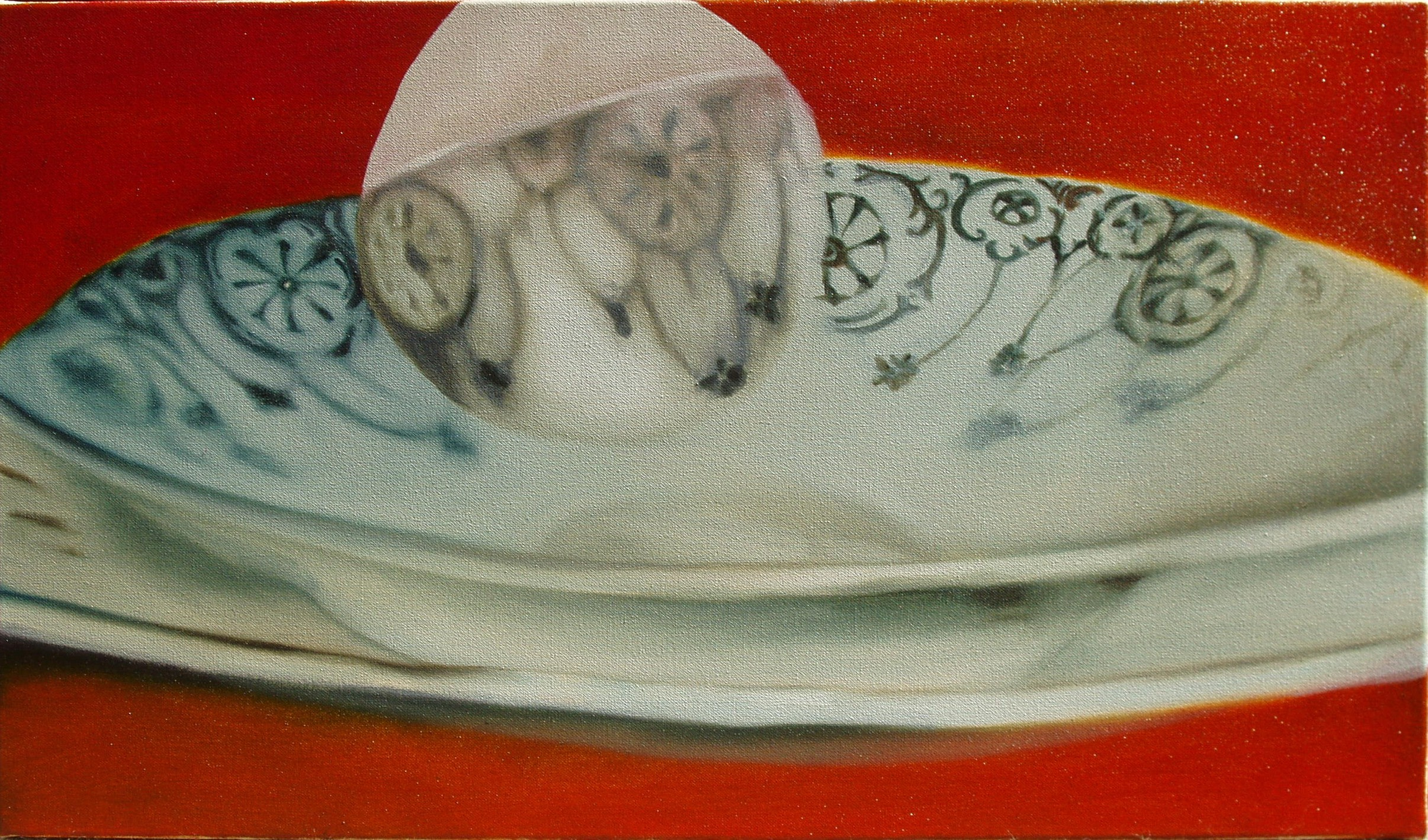 Slightly Out Of Focus , oil on canvas, 610x350mm, 2006, sold