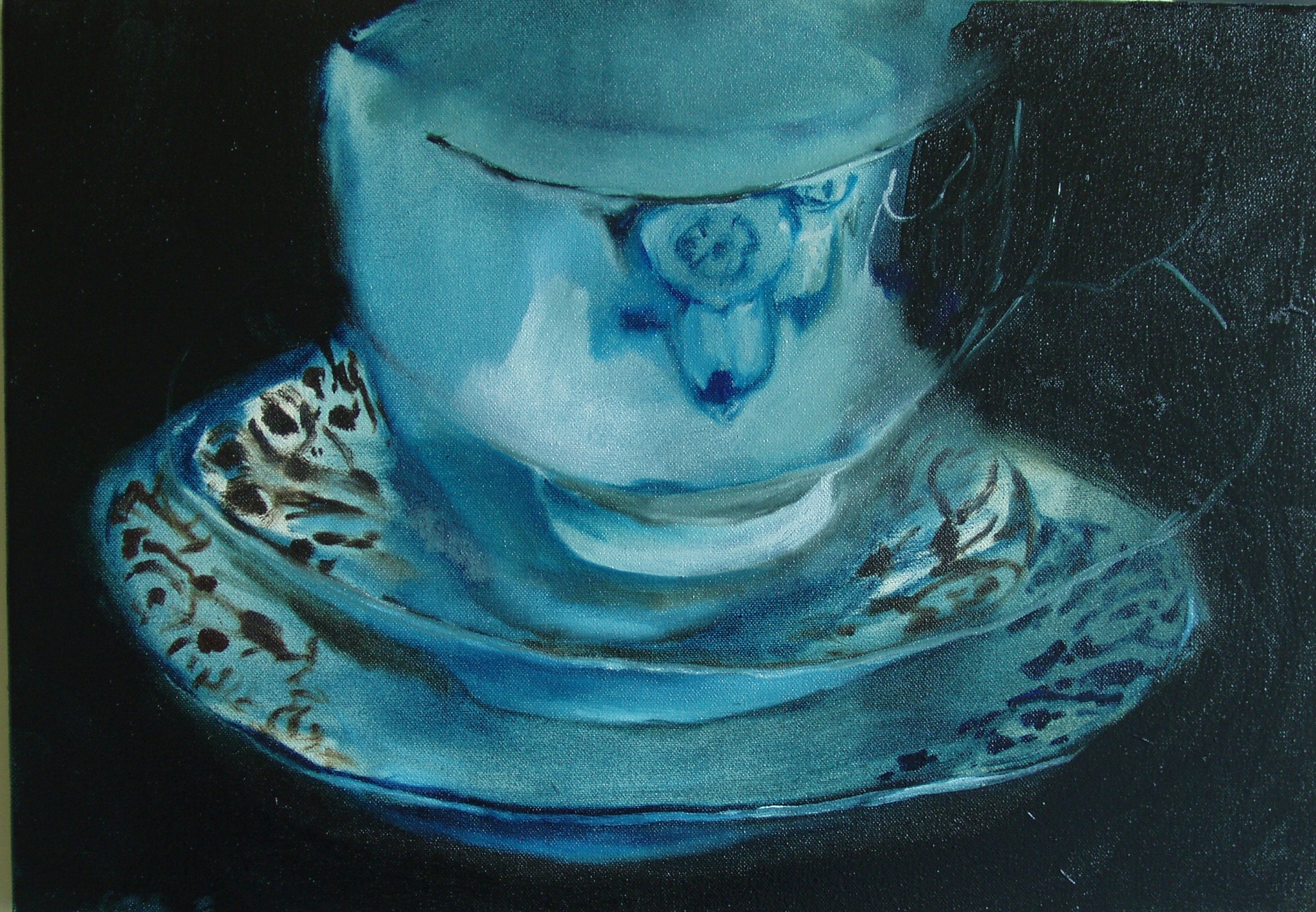 Teacup Study II , oil on canvas, 500x350mm, 2006, sold