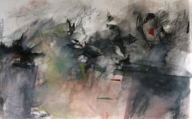 Inhabitation, ink, compressed graphite, pigment, on 300gsm britania card, 1260x1930mm, $3700