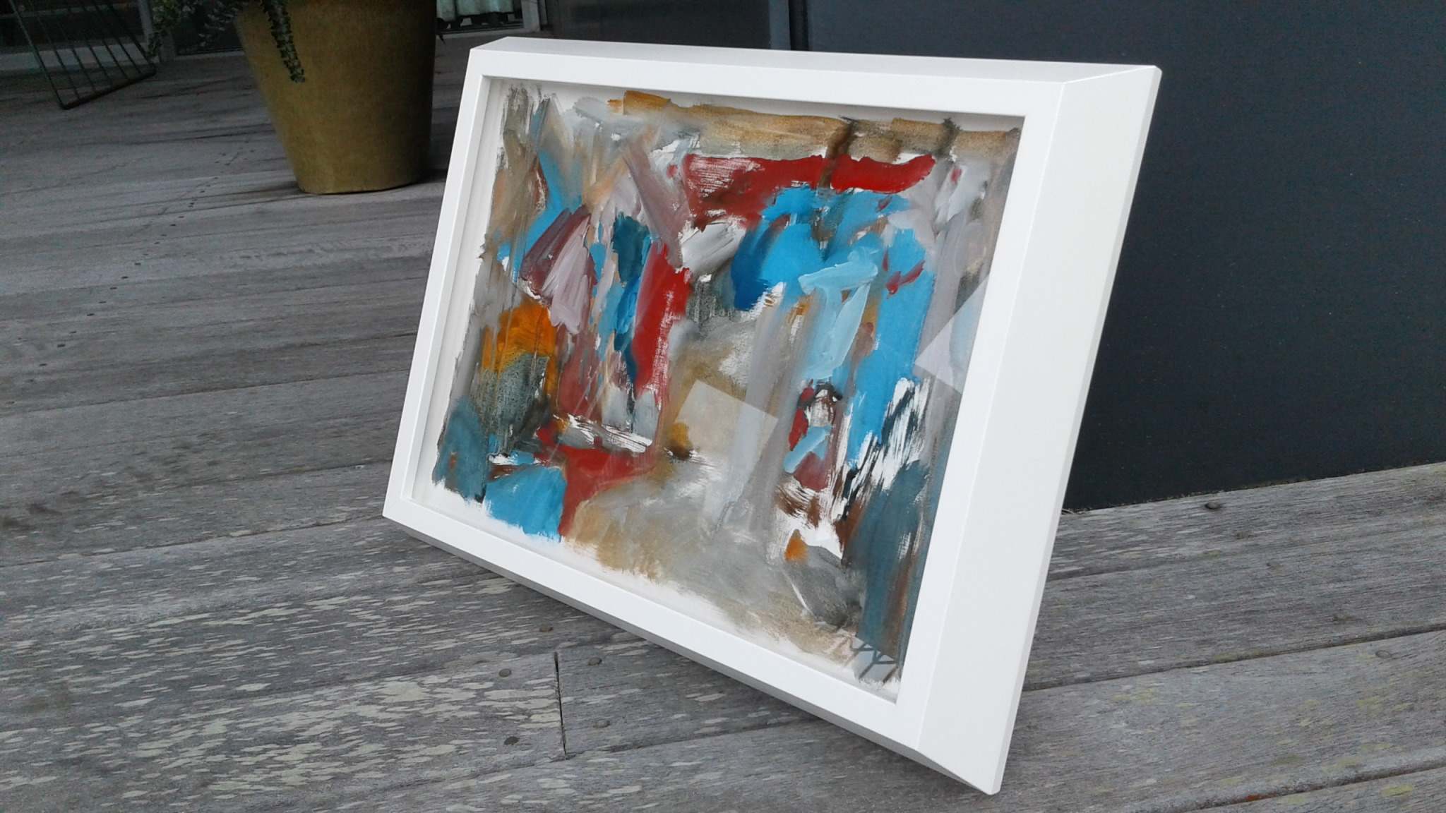 This is the piece here, framed by Em at Framing House in Hamilton - such a beautiful box frame, thanks Em & Steph :)