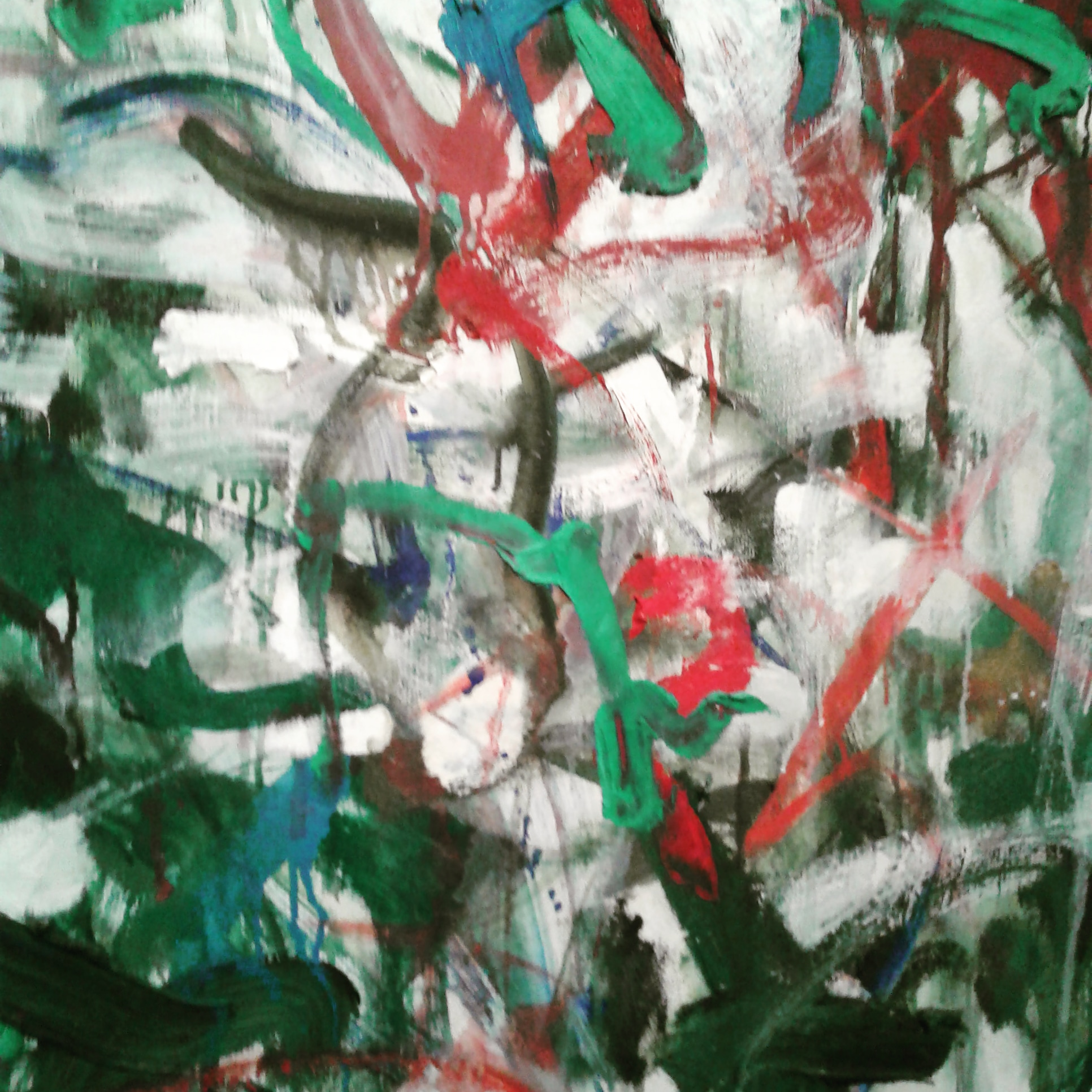 detail, Joan Mitchell painting