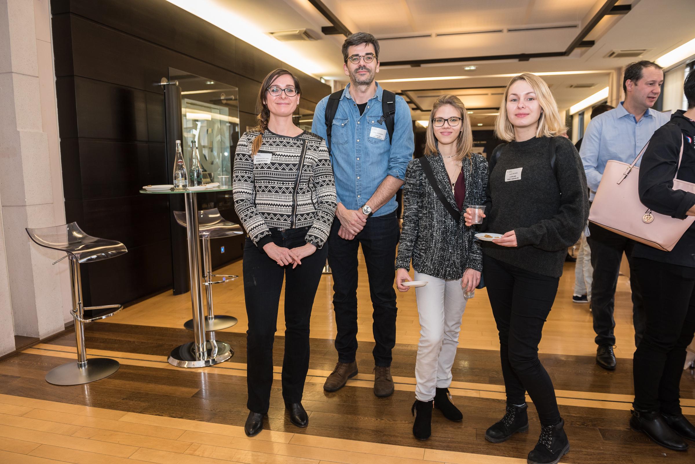 Alexandra de l'agence relation presse BB, Julian, Maryvéronique et Laura.