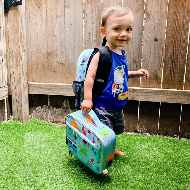 "GIVEAWAY TIME!🎉: Happy 'Back to School' week for many of you! To celebrate, Isaiah and I are teaming up with @wildkinofficial to give one of you a backpack and lunchbox in their incredible ""SURF SHACK"" print! 🏄🏻‍♂️ To enter: 1)Like this post 2)Follow @wildkinofficial and @mrsclairevoss 3)Tag a friend who's also celebrating 'Back to School' season! Giveaway ends Wednesday, August 21st!"