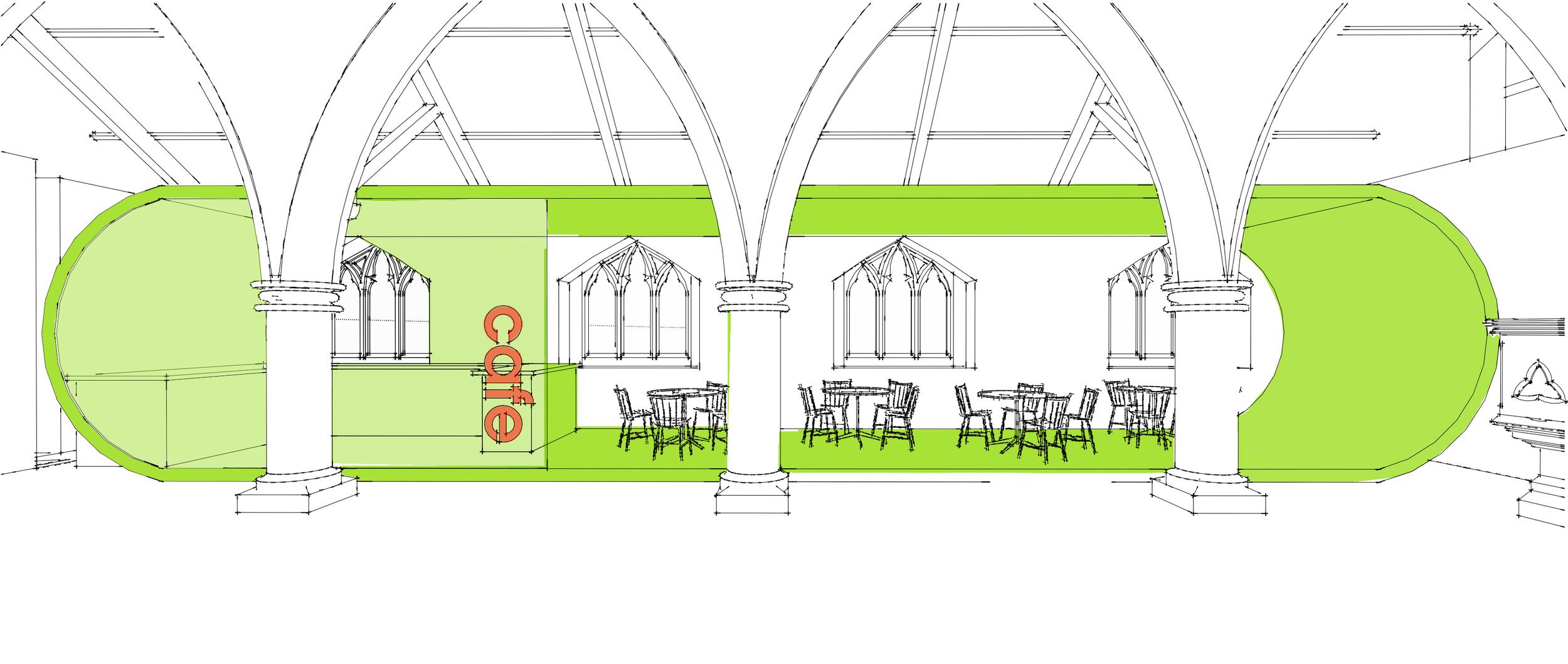 Interior Sketch Scheme 1