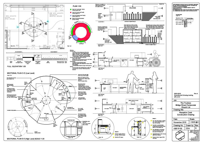 Counter specification drawing