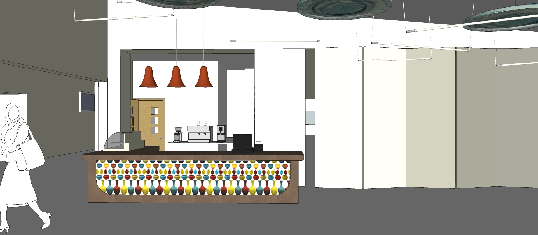 Cafe counter sketch proposal
