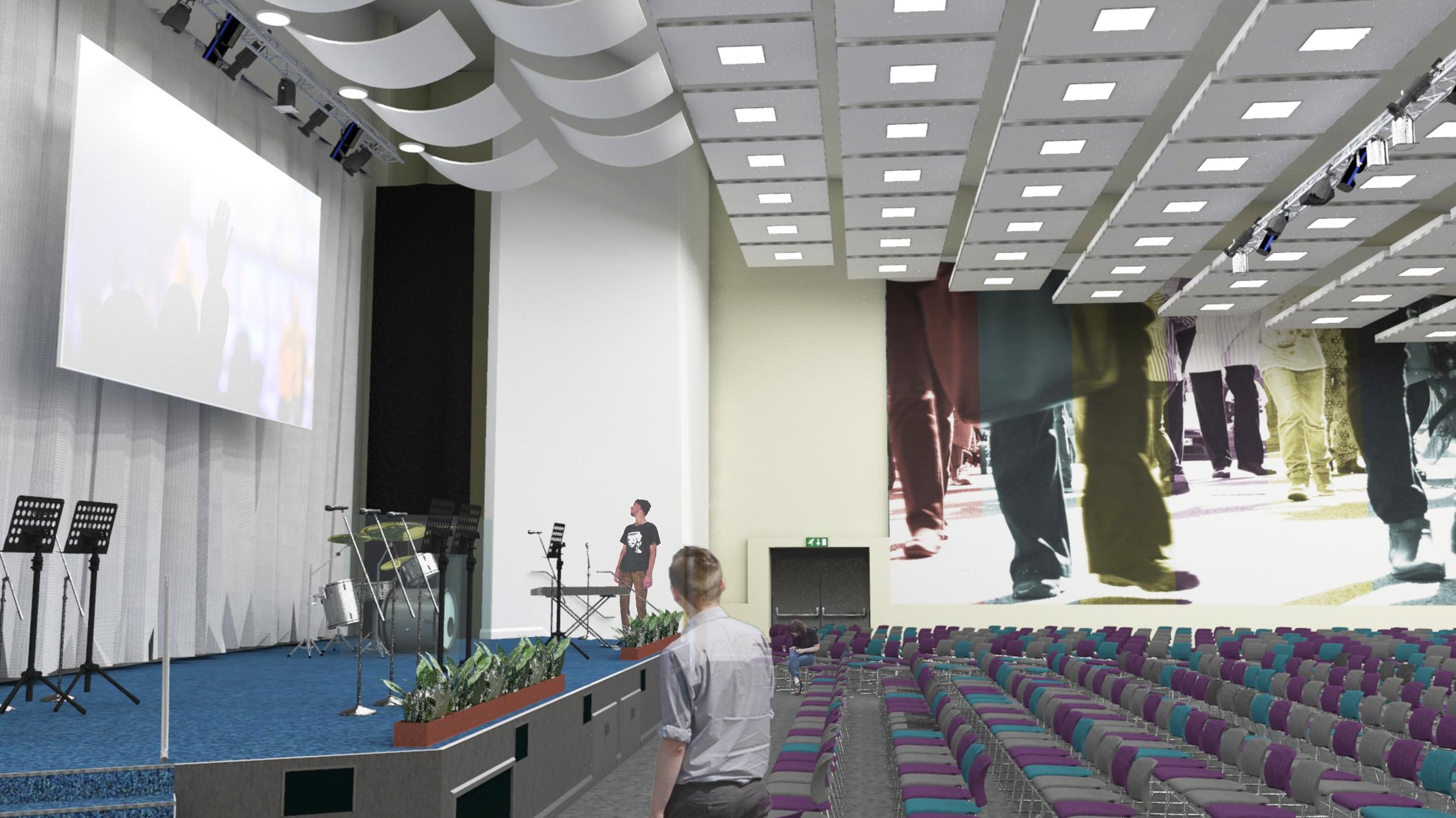 3D Visual of auditorium