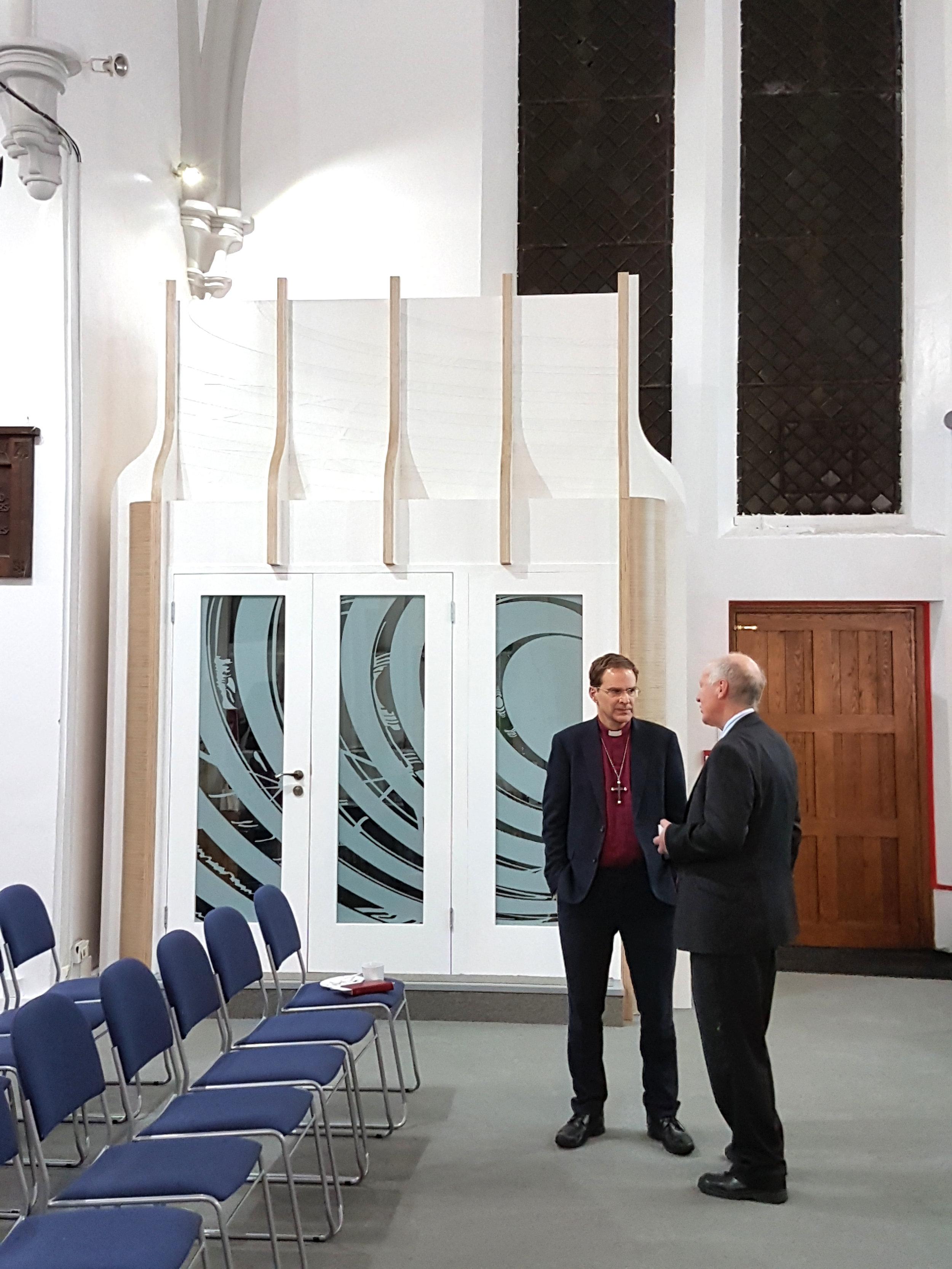 Church interior Interior freestanding pods