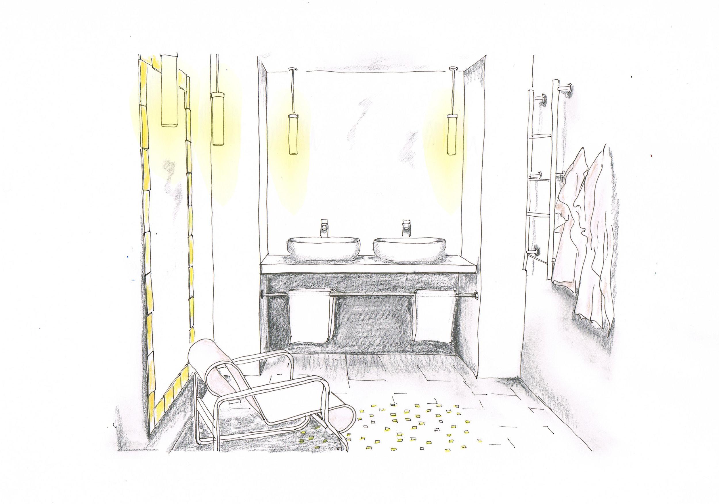 Sketch design hospitality ensuite