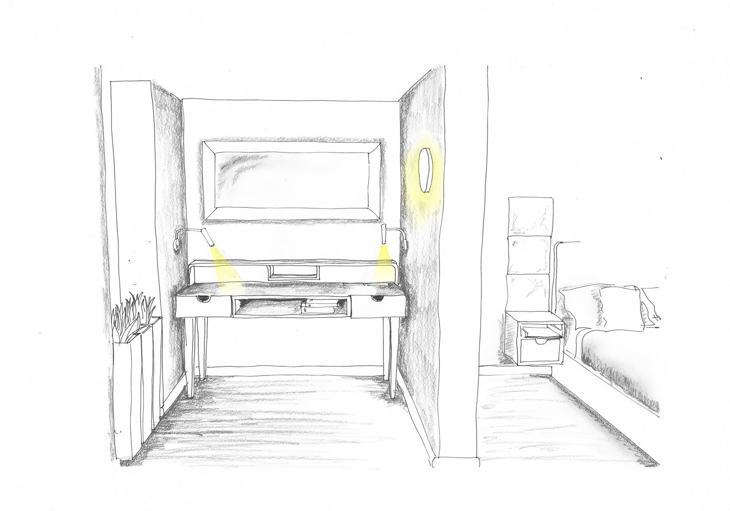 Sketch scheme hospitality